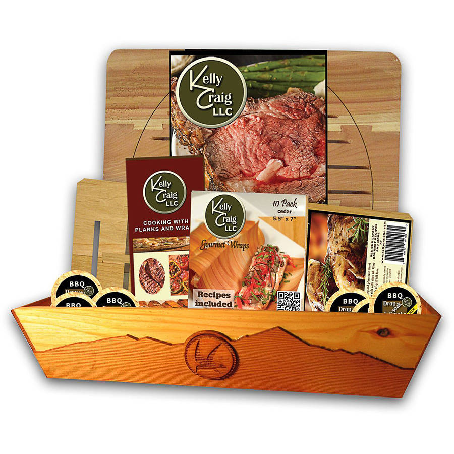 Kelly Craig BBQ Griller Gift set with Ceder Tray