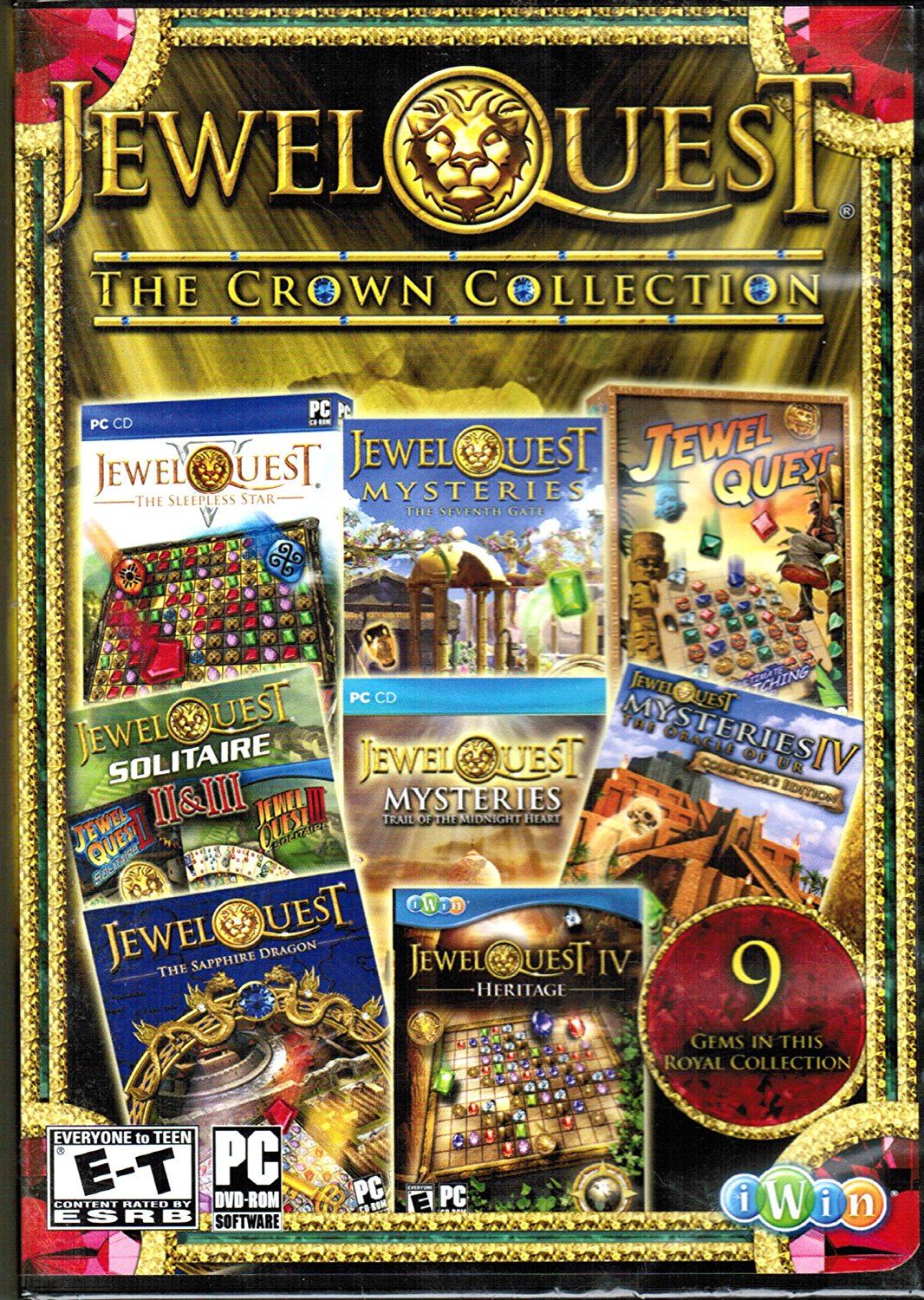 Jewel Quest The Crown Collection (PC Games), By iWin From USA by iWin