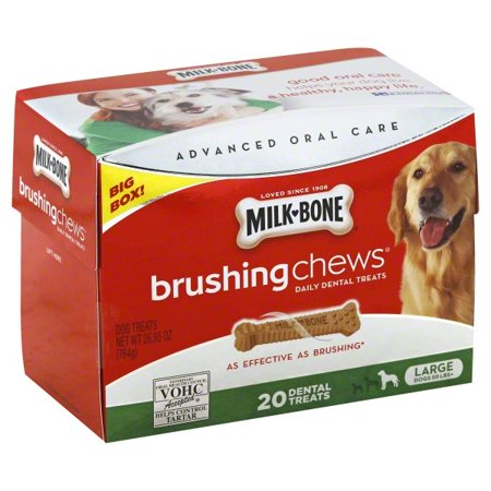 Natural Dental Chews - Milk-Bone Brushing Chews For Large Dogs, 26.9-Ounce