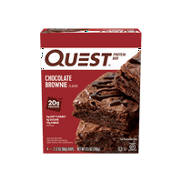 Quest Nutrition Chocolate Brownie Protein Bar, High Protein, Low Carb, Gluten Free, Keto Friendly, 4 Count