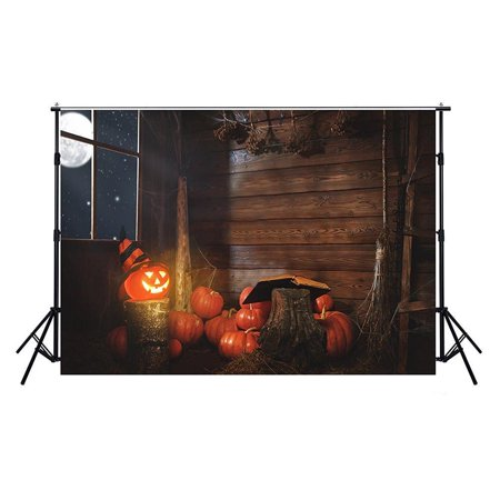 GreenDecor Polyster 7x5ft Photography Backdrops Halloween Photography For Backdrop Pumpkin Kids Photo Backgrounds For Photo Studio](Halloween Pumpkin Background)