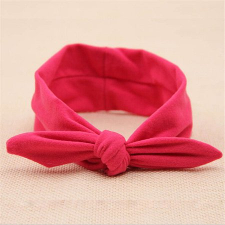 - Baby Toddler Girls Kids Rabbit Bow Knot Turban Headband Hair Band Headwrap Red