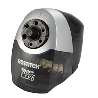 Bostitch SuperPro 6 Commercial Electric Pencil Sharpener, 6-Holes, Black/Silver (EPS12HC)
