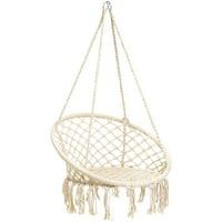 Best Choice Products Handmade Rope Hammock w/ Tassels - Beige