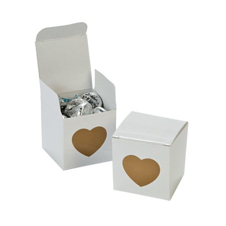Gold Heart Favor Boxes