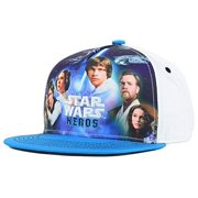 Star Wars Youth Heroes Snapback Blue & White Cap Hat Fits 5-12