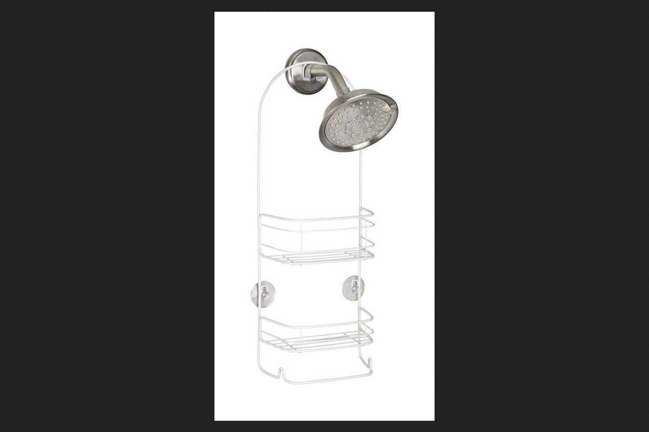 InterDesign 21 in. H x 4 in. W x 8-3 4 in. L Shower Caddy White by INTERDESIGN
