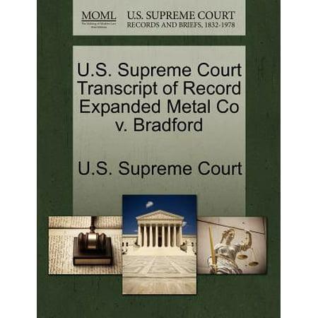 Standard Expanded Metal (U.S. Supreme Court Transcript of Record Expanded Metal Co V. Bradford )