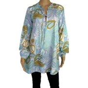Womens 'Sunflo' Long Tunic Shirt/Dress, Light Blue, Size XS/36