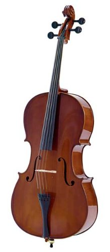 Palatino VC-455 Allegro Cello Outfit with Case, 4 4 Size Multi-Colored by Palatino
