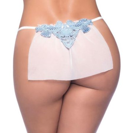 Oh La La Cheri Veiled Sheer Bridal (Bridal G-string)