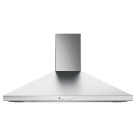 JVW5361SJSS 36 Wall-Mount Pyramid Chimney Hood with 350 CFM Venting System with Boost  Electronic Backlit Controls  Dual Halogen Cooktop Light  Convertible Venting Options in Stainless Steel Island Cooktop Hood