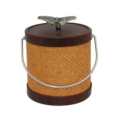 Mr Ice Bucket - Mr Ice Bucket 3 Qt Bark Wicker Ice Bucket with Butterfly Knob