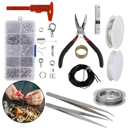 Jewelry Making Supplies Kit Jewelry Repair Tool with Accessories Jewelry Pliers Jewelry Findings and Beading Wires for Adults and Beginners for Jewelry Making Repair DIY Craft Supplies Beading Accessories Tools