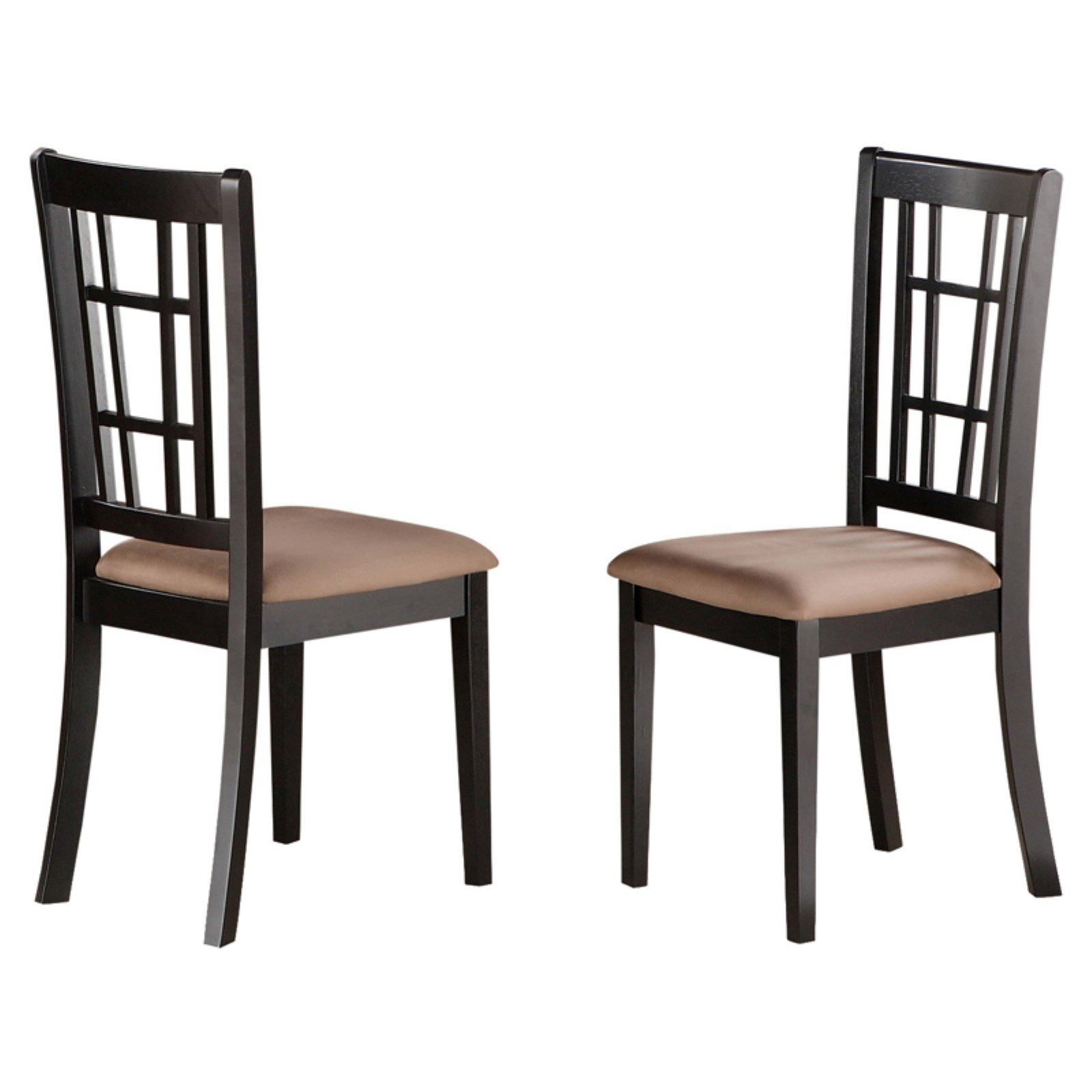 East West Furniture Nicoli Dining Chair with Microfiber Seat - Set of 2