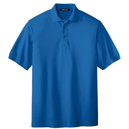 Maroon Striped Performance Polo - Mafoose Men's Extended Size Silk Touch Polo Shirt Strong Blue X-Small