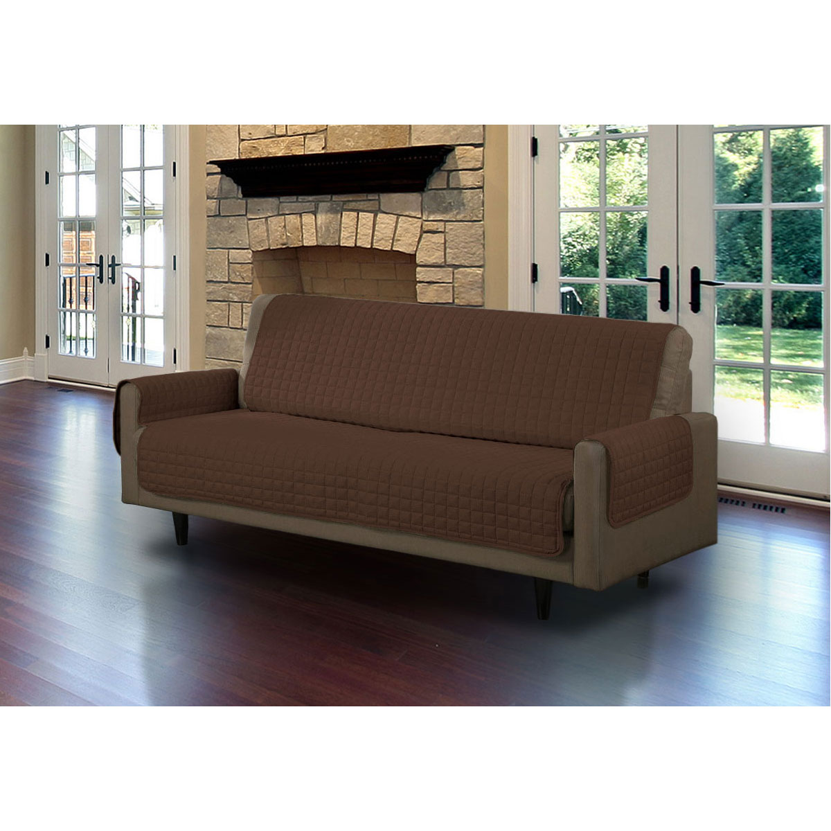 Linen Store Furniture Cover, Pet Protector, Micro Suede [Brown, Sofa]