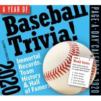 A Year of Baseball Trivia! Page-A-Day Calendar 2020 (Other)