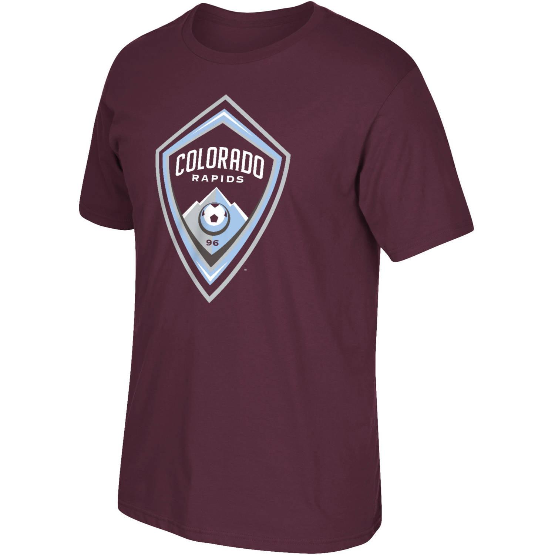MLS Colorado Rapids Mens Oversized Logo Short Sleeve Tee