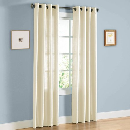 Jenner Solid Faux Silk Grommet Window Curtain Panel - All Sizes NEW ARIVAL SALE (95