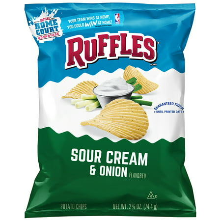 ruffles sour cream and onion potato chips oz bag. Black Bedroom Furniture Sets. Home Design Ideas