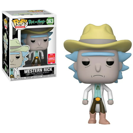 Funko Rick & Morty POP! Animation Western Rick Vinyl Figure - Western Theme Props