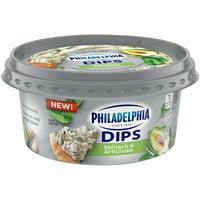 Philadelphia Dips Spinach Artichoke Cream Cheese Spread & Dip, 10 oz Tub