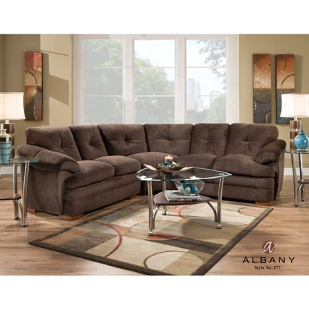 Albany Allendale Sectional Sofa Chocola