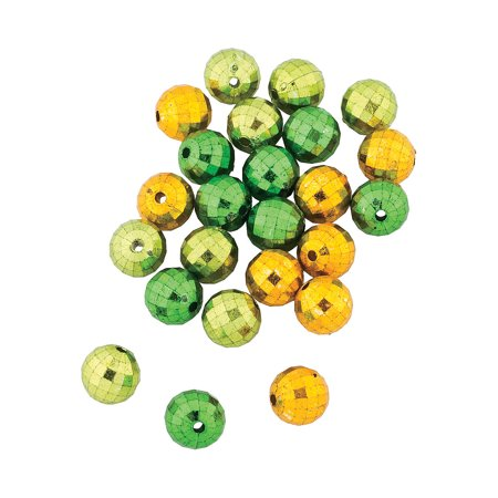 Fun Express - St Pats Green Disco Beads for St. Patrick's Day - Craft Supplies - Kids Beading - Plastic Beads - St. Patrick's Day - 24 Pieces](St Patrick's Day Beads)