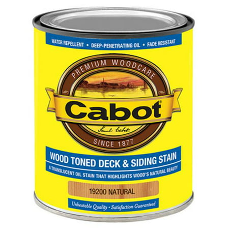 Cabot Samuel 19200-05 QT, Natural, VOC, Wood Toned Deck & Siding