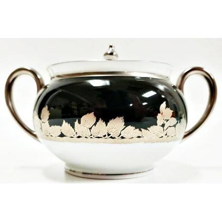 Haviland Limoges Prestige Collection Feuille de Platine Sugar Bowl with Lid Haviland Limoges Set