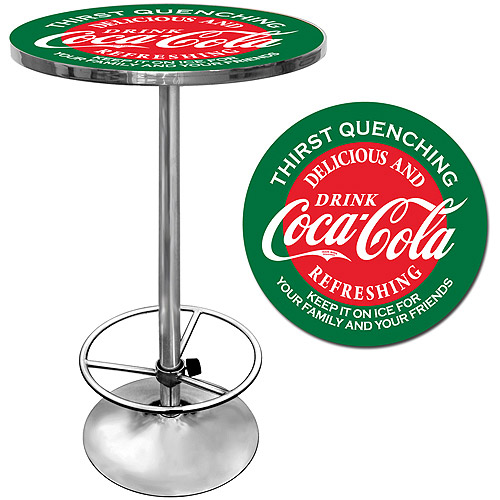 "Trademark Coca-Cola 42"" Pub Table, Chrome/Red/Green"