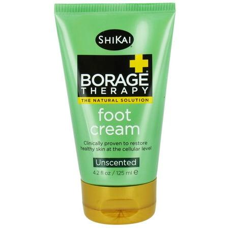 Shikai Foot Cream - Shikai - Borage Therapy Foot Cream Unscented - 4.2 oz. pack of 1