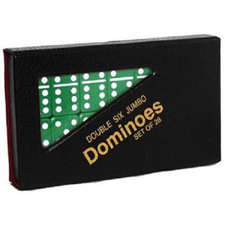 Double 6 Jumbo Dominoes   Green
