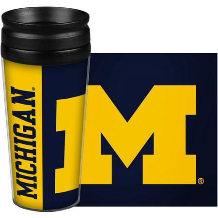 Michigan Wolverines 14oz. Hype Full Wrap Tumbler - No (Wolverine Wrap)