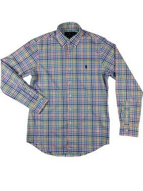 d84f2eb11 Product Image Ralph Lauren Polo Mens Classic Fit Stretch Pony Logo Button  Down Collar Shirt Ne (Orange
