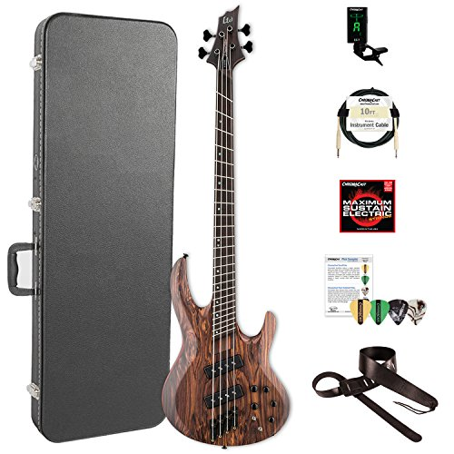 ESP LB1004SEMSRNS-KIT-2 B Series B-1004SE Multi-Scale 4-String Electric Bass Guitar, Natural Satin by