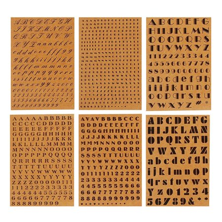 Assorted Font Alphabet Letters Kraft Stickers, Natural, - Halloween Letter Fonts