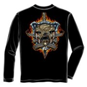 Once and Always a Marine Long Sleeve T-shirt by , Black