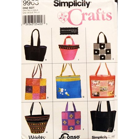 Crafts 9963   9 Handbags  Purses  Tote  Beachbags  Bags By Helgl   Nordstrom  Simplicity Crafts Pattern By Simplicity