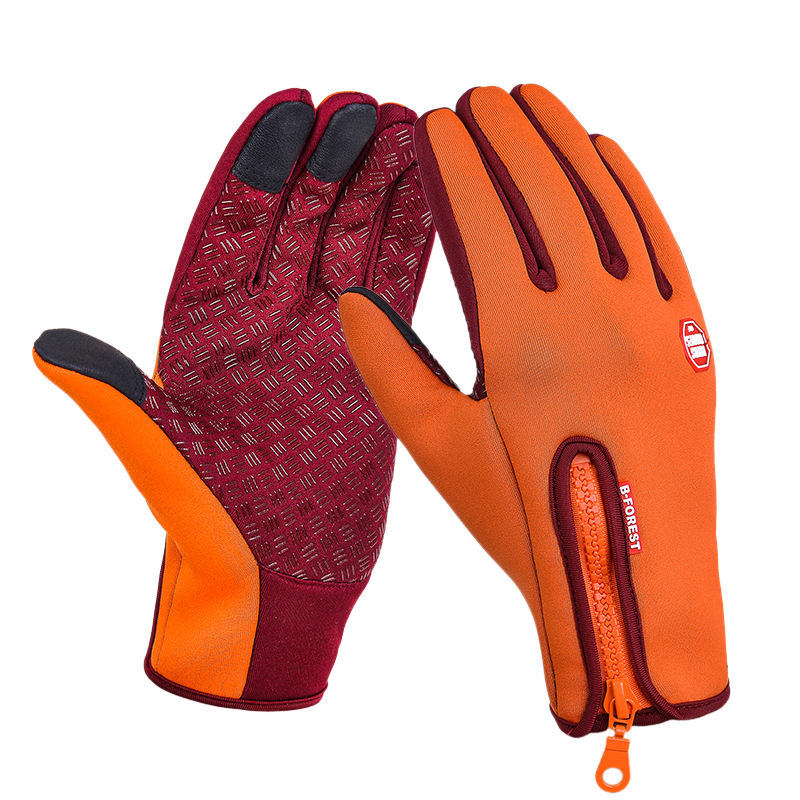 Details about  /Waterproof Full Fingers Warmer Wear Gloves For Adults Cycling Polyester Material
