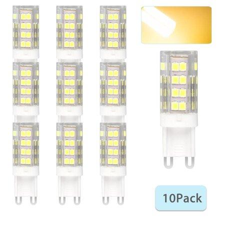 G9 Base 5W 6000K 40W Equivalent Halogen LED Bulbs 2835 40-SMD Daylight Home Lights,10-pack