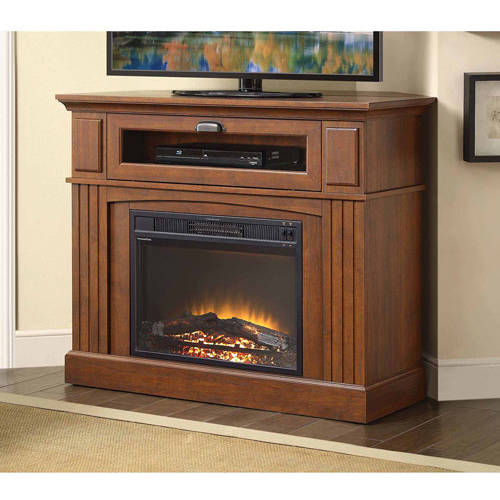 "Sumner Corner Media Electric Fireplace for TVs up to 45"", Brown"