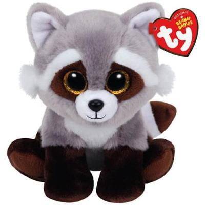 Ty Beanie Babies Small Plush, BANDIT THE RACCOON, 2Pack
