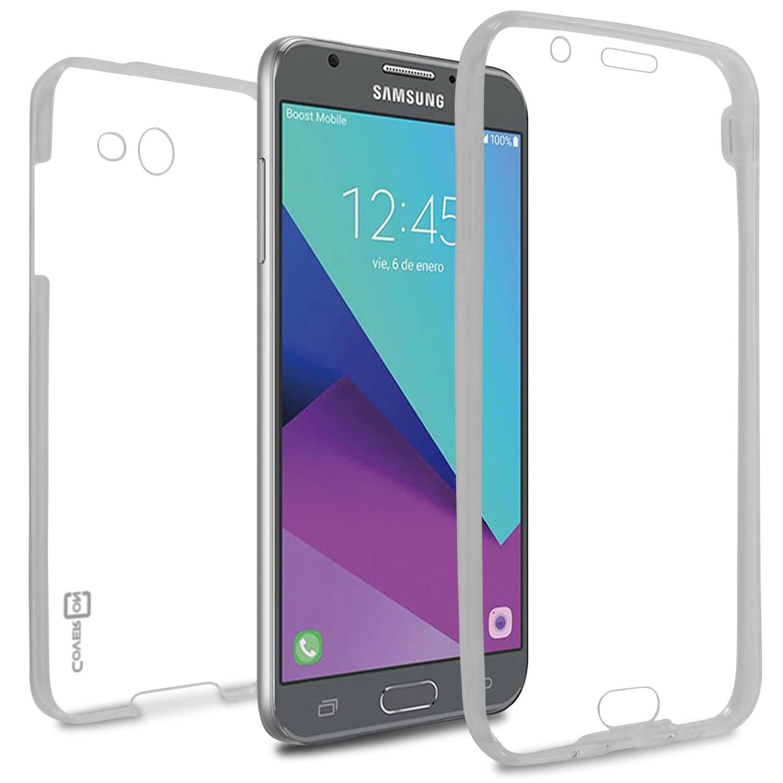 quality design 69997 1f86c CoverON Samsung Galaxy J7 Prime / J7 Sky Pro / Halo Case, WrapGuard Series  HD Clear Soft Flexible Slim Fit TPU Phone Cover