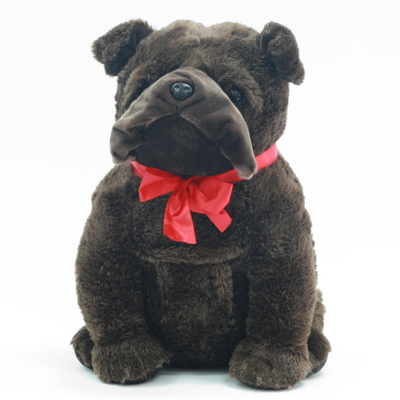 Valentine Stuffed 24 Large Puppy Precious Sitting Bulldog Plush