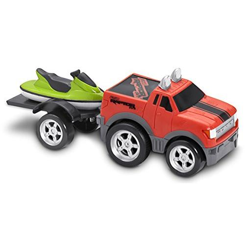 Kid Galaxy Soft and Squeezable Pull Back Ford F150 with Trailer and Jet Ski Multi-Colored