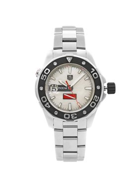 Pre-Owned TAG Heuer Aquaracer MOP Sticks Dial Steel Automatic Mens Watch WAJ211A.BA0870