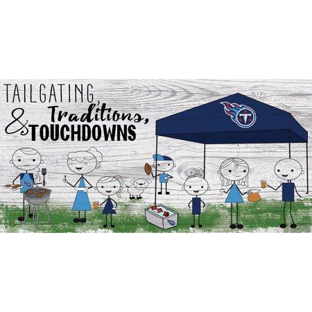 Tennessee Titans 6'' x 12'' Fansticks Tailgate Sign - No Size](Tailgate Decor)