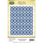 "JustRite Papercraft Cling Background Stamp 4.5""X5.75""-Modern Lattice"